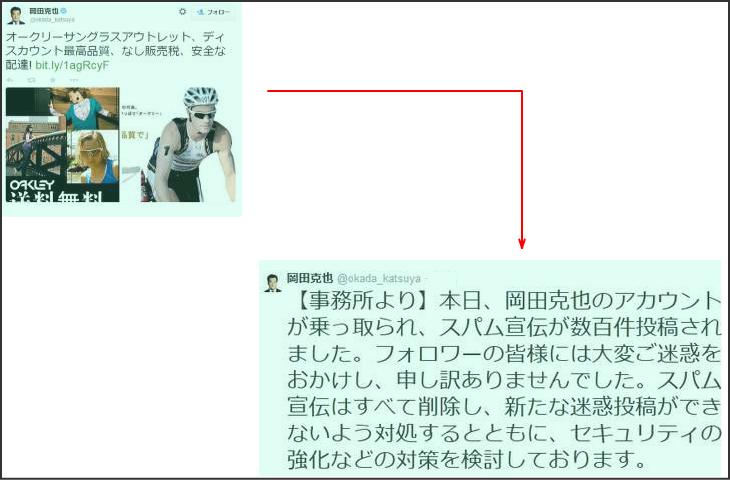 岡田代表ツイッター乗っ取り事件